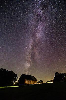 Milky Way And Barn Art Print