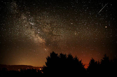 Photograph - Milky Way And Falling Star by Katie Wing Vigil