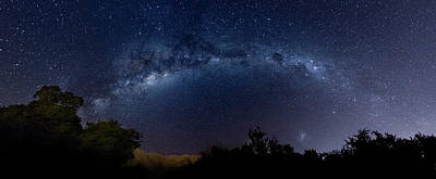 Merlo Wall Art - Photograph - Milky Way And Mountains by Pablo Rodriguez Merkel