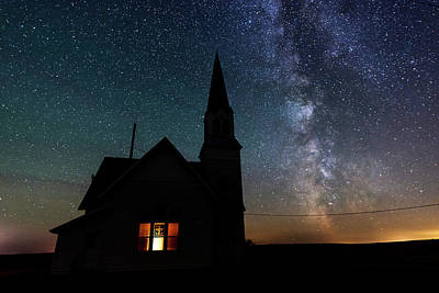 Milky Way And Old Church Original