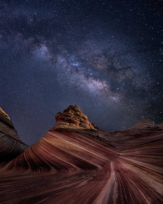 Milky Way And The Wave Art Print