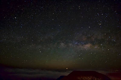 Photograph - Milky Way And Venus Over Haleakala by Josh Bryant