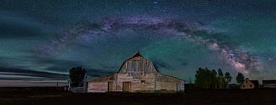 Milky Way Arch Over Moulton Barn Art Print
