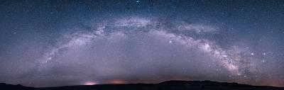 Photograph - Milky Way Arch Over The Badlands by Dakota Light Photography By Dakota
