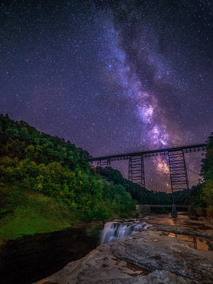 Photograph - Milky Way At Letchworth by Mark Papke