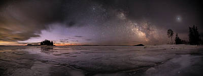 Gichigami Photograph - Milky Way At Nautical Twilight by Jakub Sisak