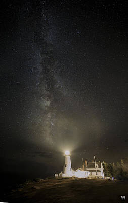 Photograph - Milky Way At Pemaquid Light by John Meader