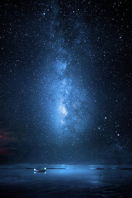 Photograph - Milky Way Bay by Mark Andrew Thomas