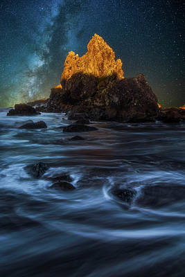 Photograph - Milky Way Cove by Darren White