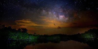 Beauty Mark Photograph - Milky Way Fire by Mark Andrew Thomas