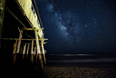 Photograph - Milky Way - Frisco Pier by Pete Federico