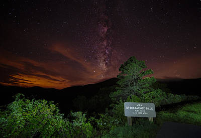 Photograph - Milky Way From Blue Ridge Parkway by Tyson Smith