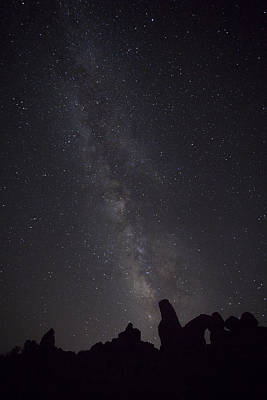 Photograph - Milky Way Galaxy At Arches National Park by David Watkins