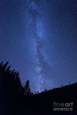Yellowstone Photograph - Milky Way Galaxy by Juli Scalzi