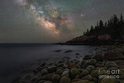 Photograph - Milky Way Galaxy Over Boulder Beach  by Michael Ver Sprill