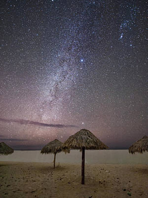 Palapas Wall Art - Photograph - Milky Way In Cuba by Keith Marsh