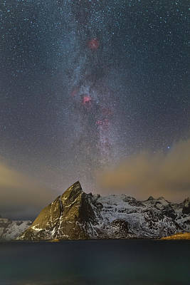 Photograph - Milky Way In Lofoten by Alex Conu