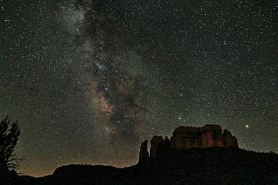 Cathedral Rock Photograph - Milky Way Jupiter And Millions Of Sparkling Stars by Donna Kennedy