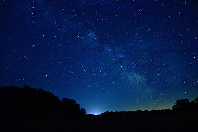 Photograph - Milky Way Night Sky 5344 by Michael Peychich