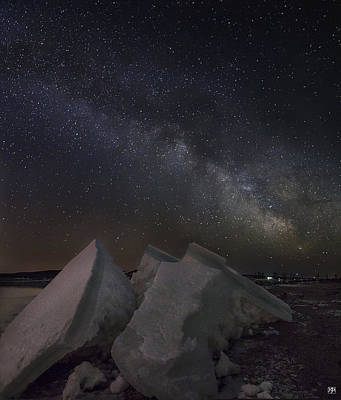 Photograph - Milky Way On Ice by John Meader