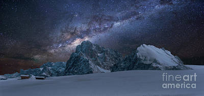 Photograph - Milky Way On Italian Dolomites by Pier Giorgio Mariani