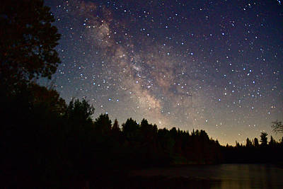 Photograph - Milky Way On The Ausable 5904 by Michael Peychich