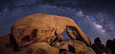 Milky Way Over Arch Rock Art Print