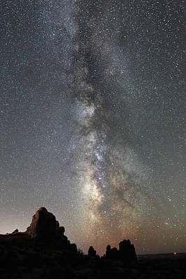 Photograph - Milky Way Over Arches Np  One by Jean Clark