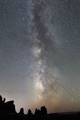 Photograph - Milky Way Over Arches Np Two by Jean Clark