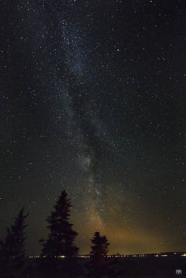 Photograph - Milky Way Over Bay Of Gaspe by John Meader