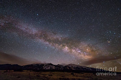 Photograph - Milky Way Over Blanca Peak In Colorado by Tibor Vari