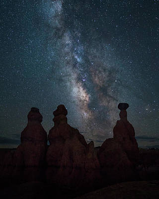 Southern Utah Photograph - Milky Way Over Bryce Canyon by James Udall