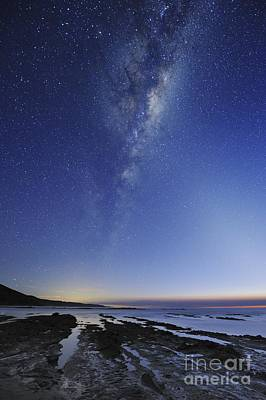 Moonlit Night Photograph - Milky Way Over Cape Otway, Australia by Alex Cherney, Terrastro
