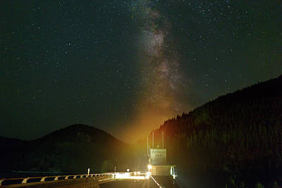Photograph - Milky Way Over Detroit Dam by David Gn