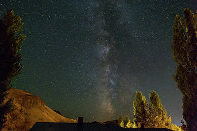 Milky Way Over Farmland In Central Oregon Art Print