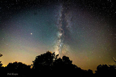 Photograph - Milky Way Over Glen Rose by Philip Rispin