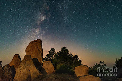 Photograph - Milky Way Over Grand Canyon Rocks by Alissa Beth Photography