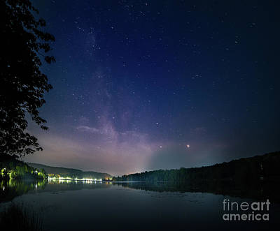 Photograph - Milky Way Over Head Lake by Roger Monahan