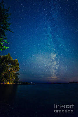 Wild And Wacky Portraits - Milky Way Over Lake Ontario by Roger Monahan