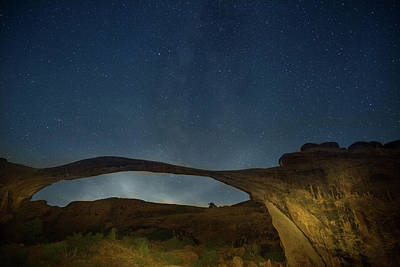 Photograph - Milky Way Over Landscape Arch by Kunal Mehra