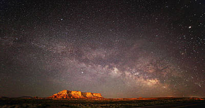 Photograph - Milky Way Over Lechee Rock Near Page Az by Jean Clark