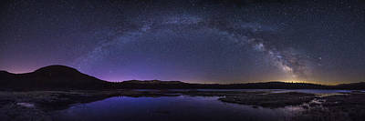 Photograph - Milky Way Over Lonesome Lake Panorama by Chris Whiton