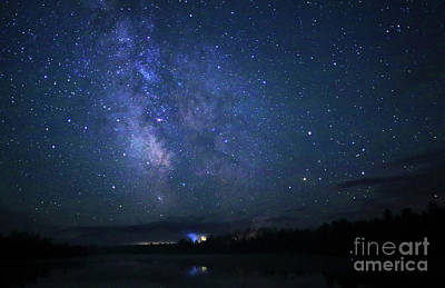 Photograph - Milky Way Over Marten River by Charline Xia