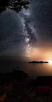 Photograph - Milky Way Over Mary Island From Silver Harbour Near Thunder Bay by Jakub Sisak