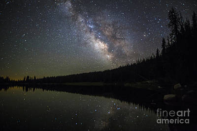 Photograph - Milky Way Over Mirror Lake by Spencer Baugh