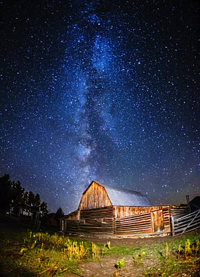 Photograph - Milky Way Over Mormon Row by Vishwanath Bhat