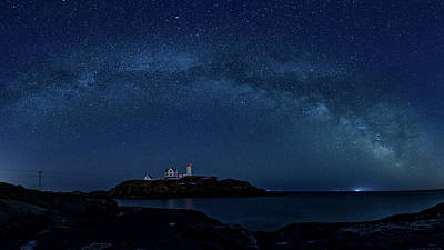 Photograph - Milky Way Over Nubble by Darryl Hendricks
