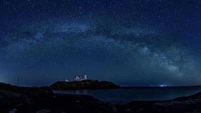 Photograph - Milky Way Over Nubble by Darryl Hendricks