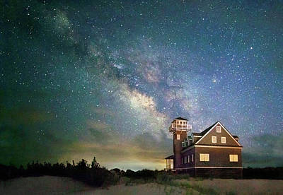 Photograph - Milky Way Over Pea Island by Art Cole