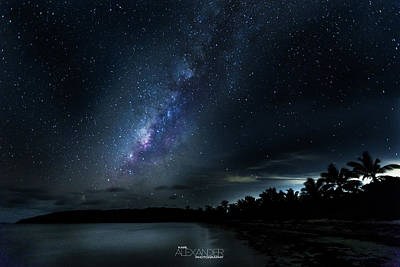 Milky Way Over Playa Navio Art Print by Karl Alexander